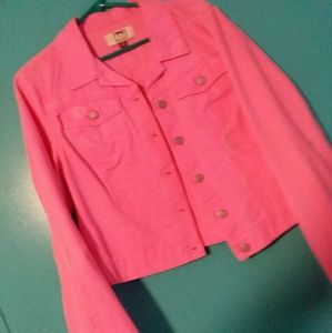 L.e.i. hot pink denim jacket